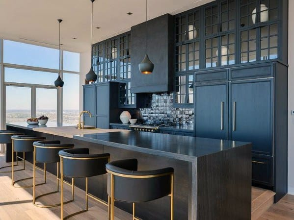 Unique Black Kitchen Cabinet Home Ideas