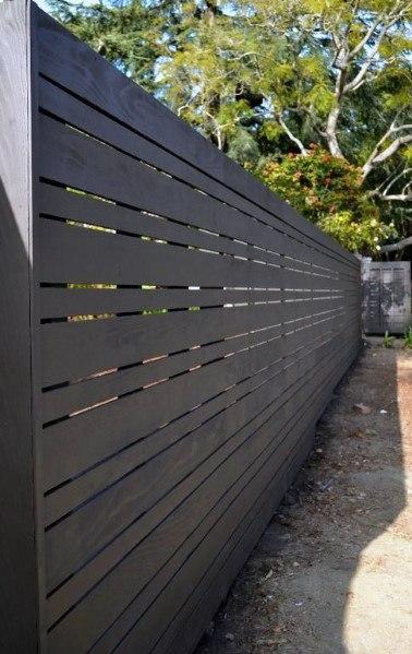 Unique Black Wooden Fence Home Ideas