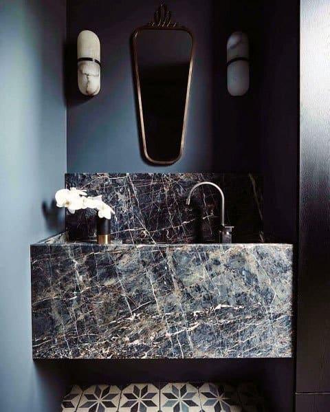 Unique Blue Bathroom Home Ideas