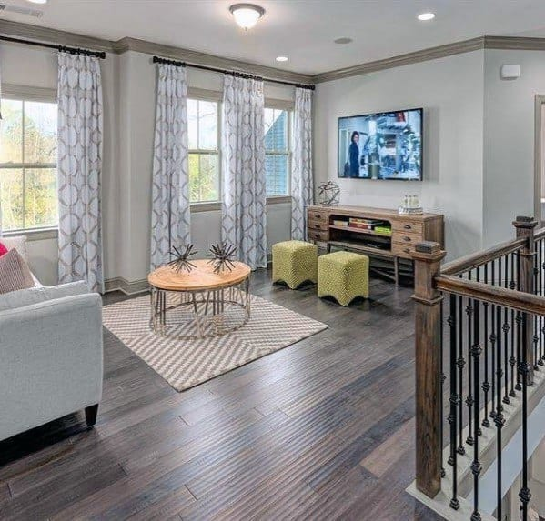 Unique Bonus Room Home Ideas With Hardwood Floors