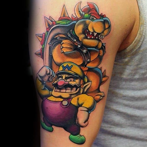 Unique Bowser Tattoos For Men