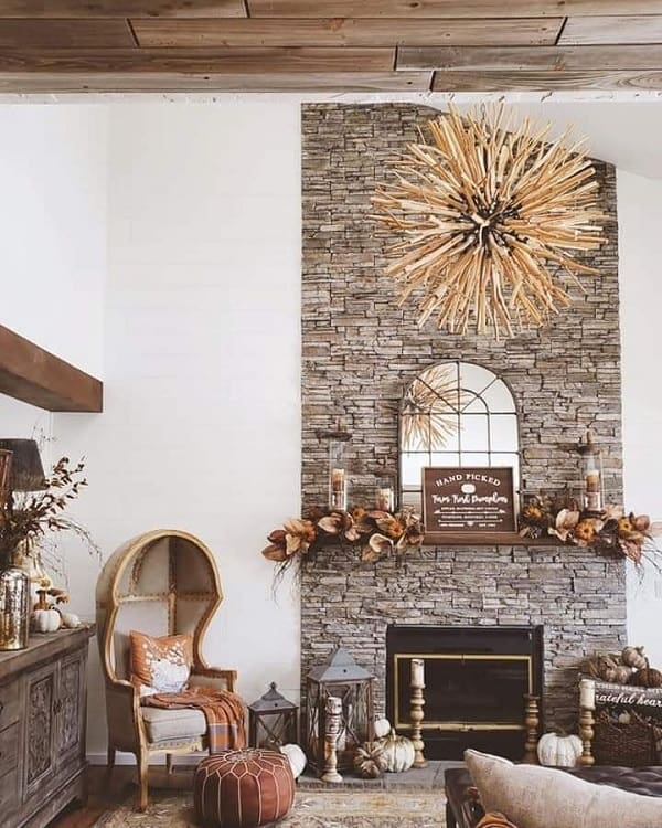 Unique Brick Floor To Ceiling Fireplace Surround Rusticrebelinteriors