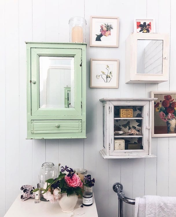 Unique Cabinets Shabby Chic Farmhouse Bathroom Jessicawil1s