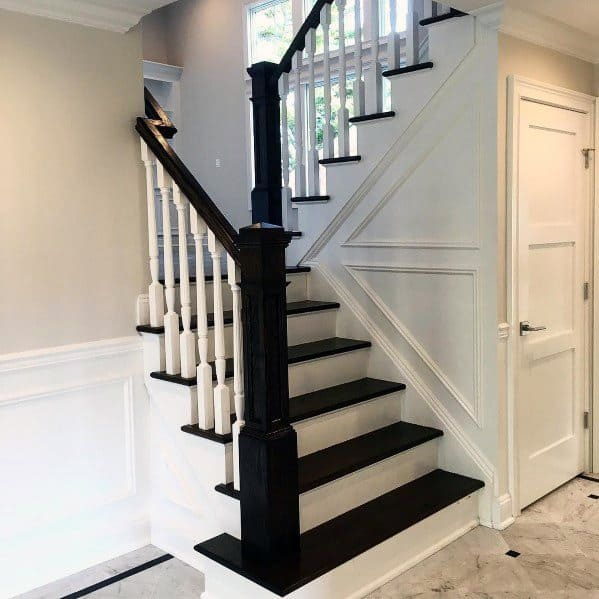 Unique Chair Rail Home Ideas Foyer Staircase