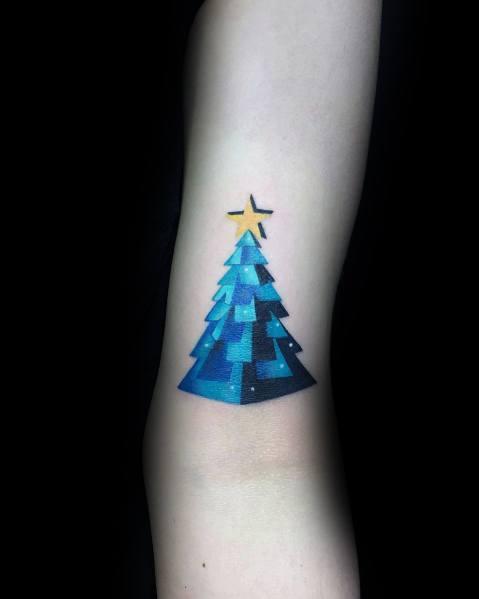 Christmas Tree Tattoo Small.Christmas Tree Tattoo