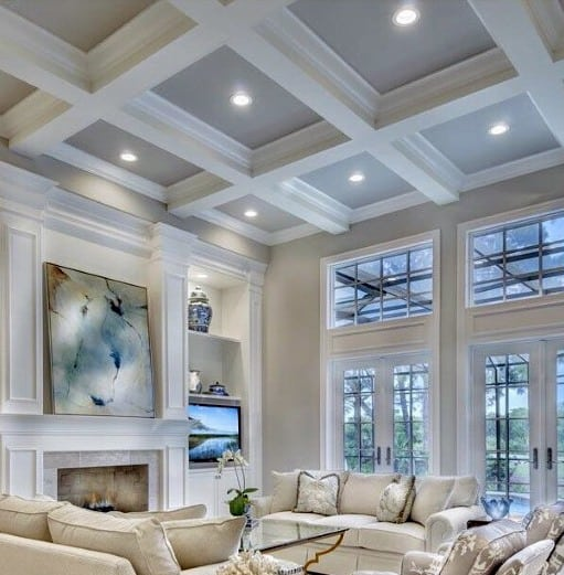 Unique Coffered Ceiling Designs