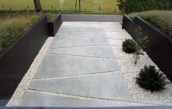 Unique Concrete Contemporary Walkway Home Ideas