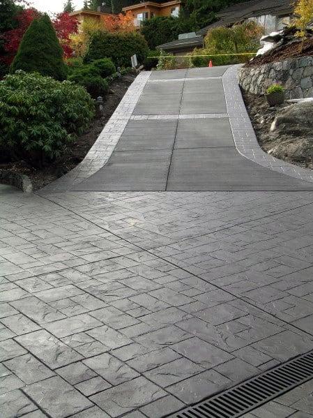 Unique Concrete Driveway Home Ideas