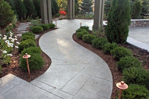 Unique Concrete Walkway Designs