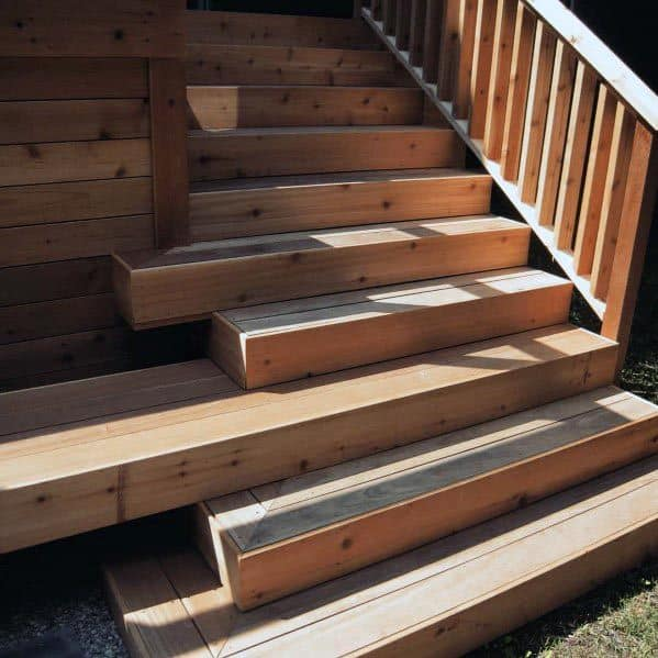 Unique Contemporary Wood Deck Steps Home Ideas