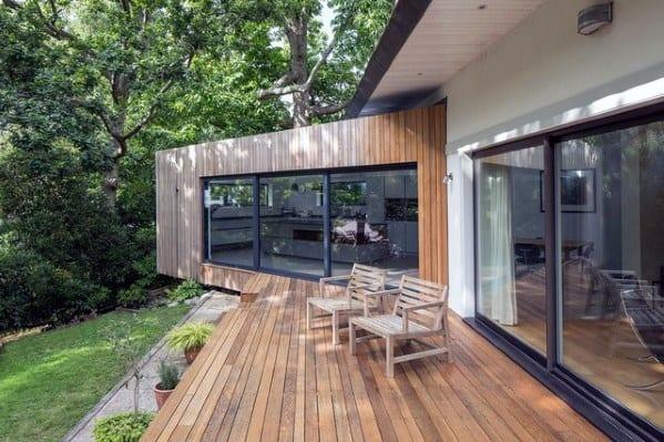 Unique Contemporary Wood Floating Deck