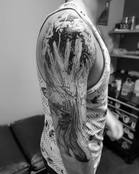 Unique Cool Tree Tattoos For Men