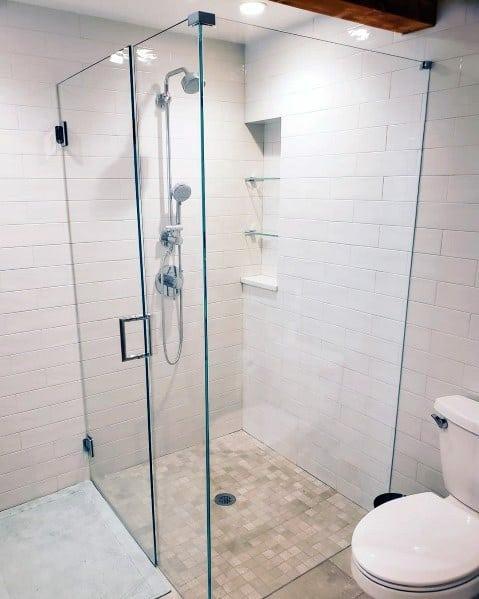 Unique Corner Shower