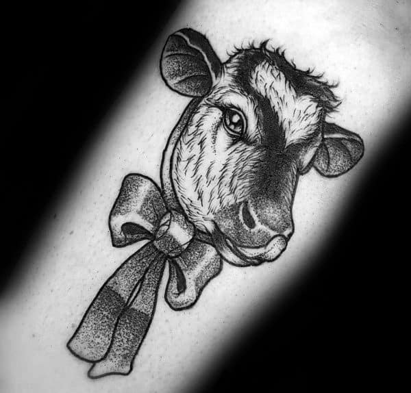 Unique Cow Tattoos For Men