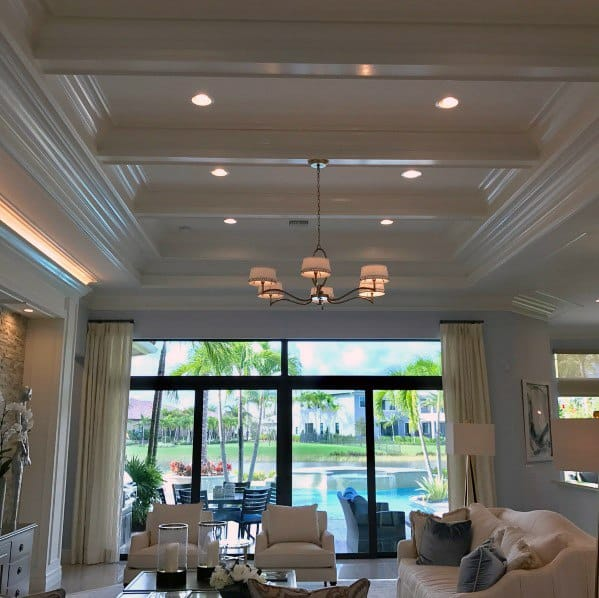 Unique Crown Molding Living Room Ceiling Lighting