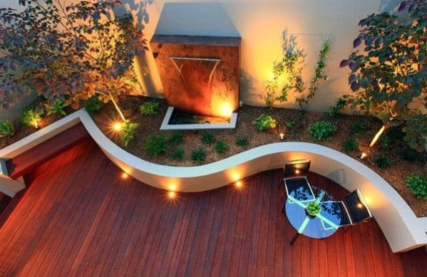 Unique Curved Deck Lighting