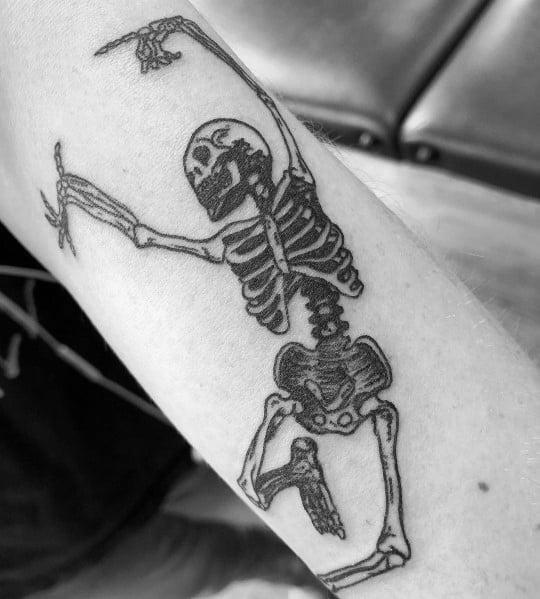 Unique Dancing Skeleton Tattoos For Men
