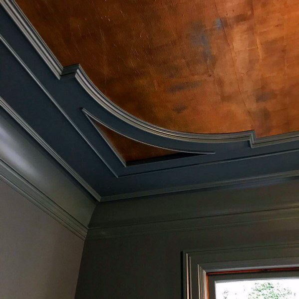 Unique Dark Grey Vintage Look Crown Molding Designs