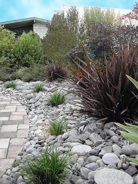 Unique Desert Landscaping Designs With River Rock Stones