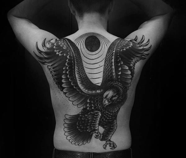 Unique Eagle Mens Full Back Tattoos