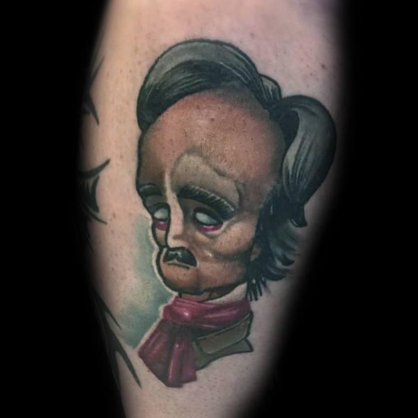 Unique Edgar Allan Poe Tattoos For Men