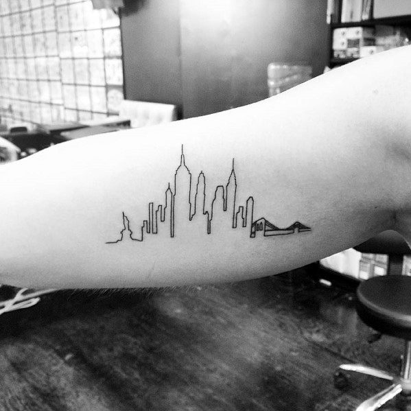 Unique Empire State Building Tattoos For Men