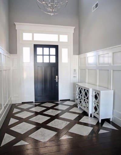 Unique Entryway Tile Diagonal Hardwood