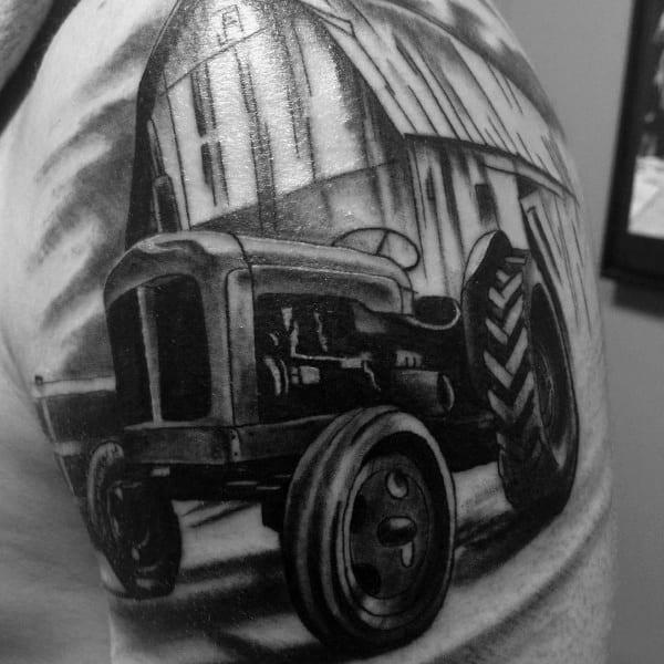 Unique Farming Tattoos For Men