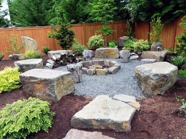 Unique Fire Pit Landscaping