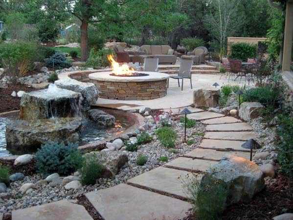 Unique Fire Pit Landscaping Home Ideas