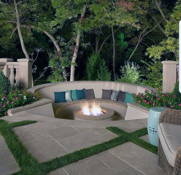 Unique Fire Pit Seating Designs