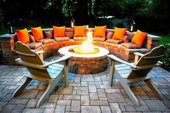 Unique Fire Pit Seating Home Ideas