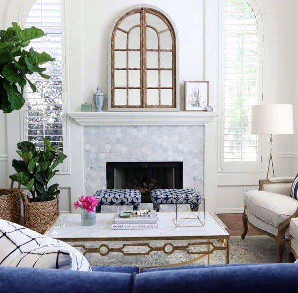 Unique Fireplace Tile Designs