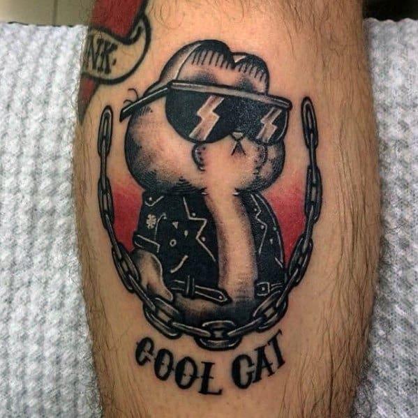 Unique Garfield Tattoos For Men
