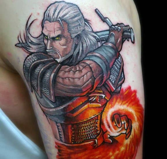 Unique Geralt Tattoos For Men