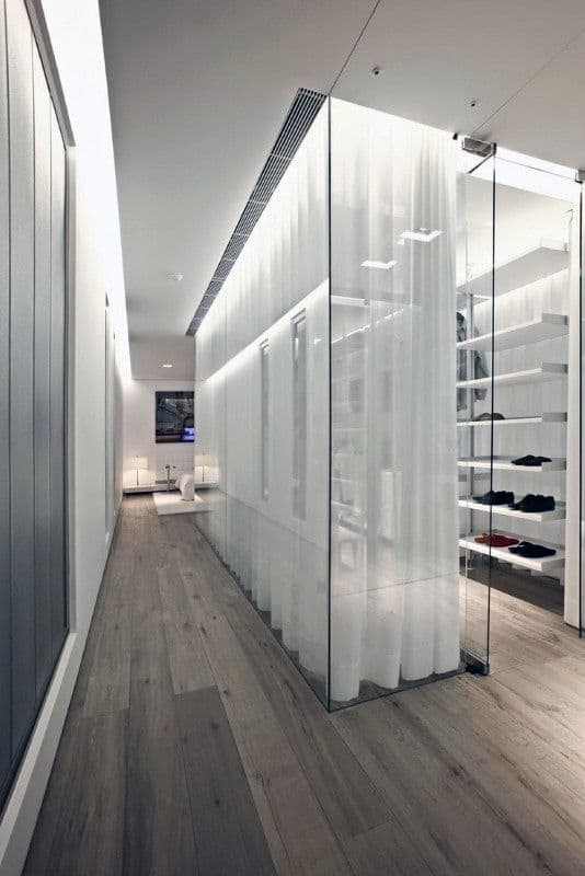 Unique Glass Wall Walk In Closet