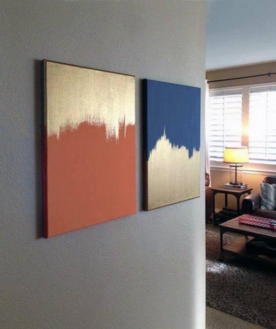 Unique Gold And Color Bachelor Pad Wall Art Design Ideas