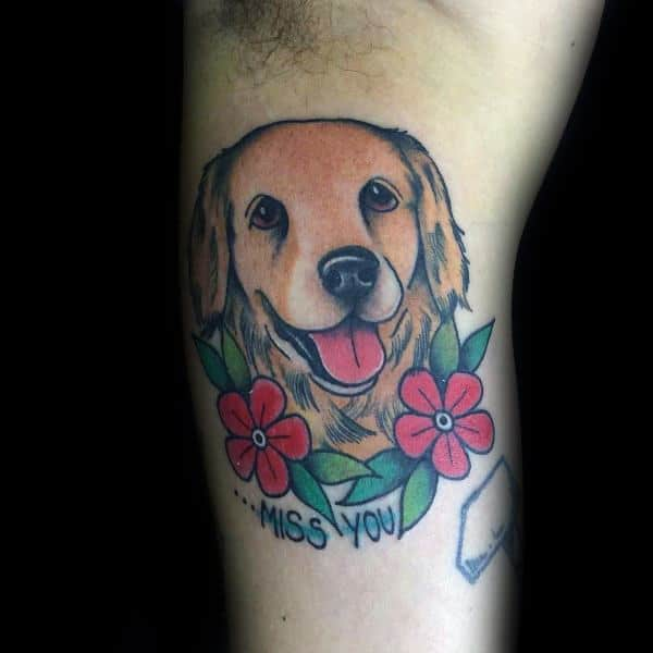 Unique Golden Retriever Tattoos For Men