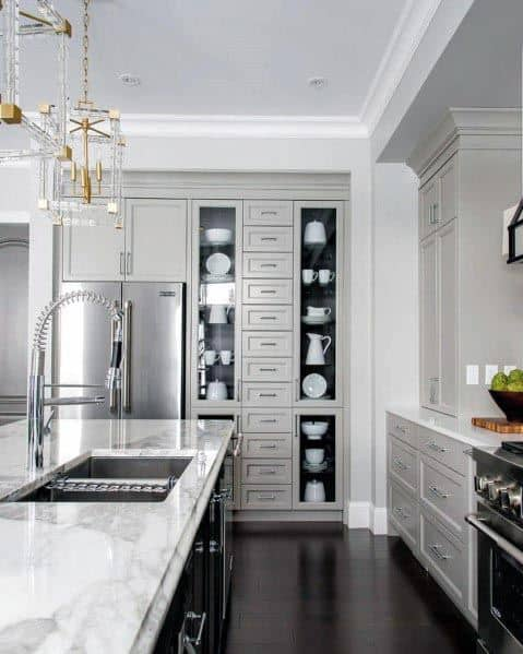 Unique Grey Kitchen Designs