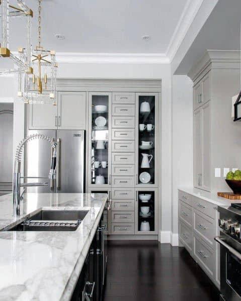 Unique Grey Kitchen Designs