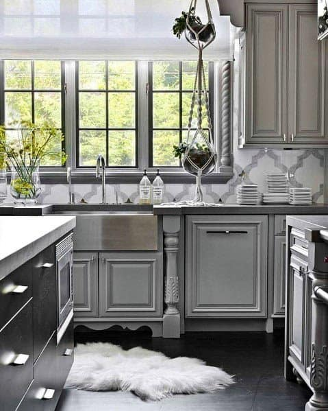 Unique Grey Kitchens