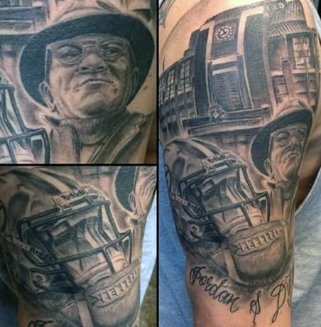 Unique Guys Green Bay Packers Themed Arm Tattoos