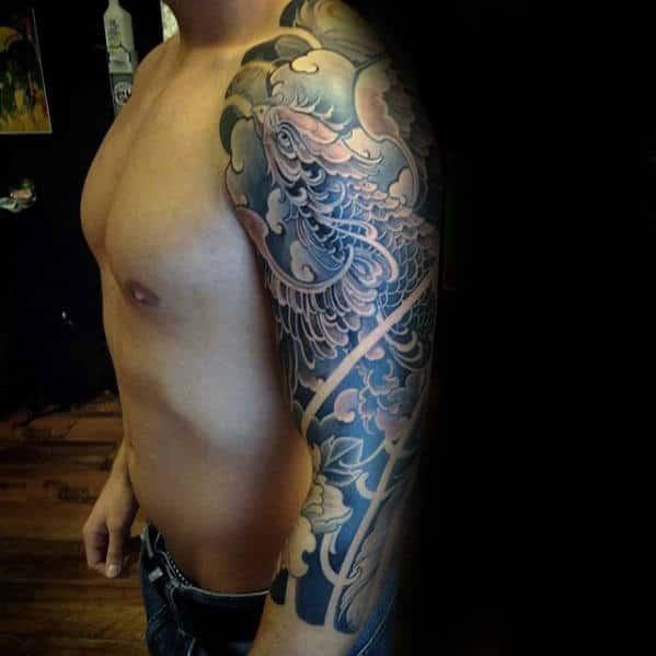 50 japanese phoenix tattoo designs for men mythical ink ideas. Black Bedroom Furniture Sets. Home Design Ideas