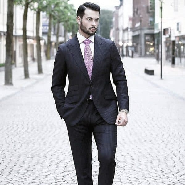 Unique Guys Navy Blue Suit Style Ideas