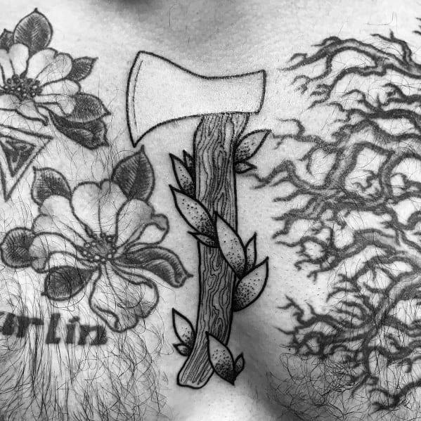Unique Hatchet Tattoos For Men