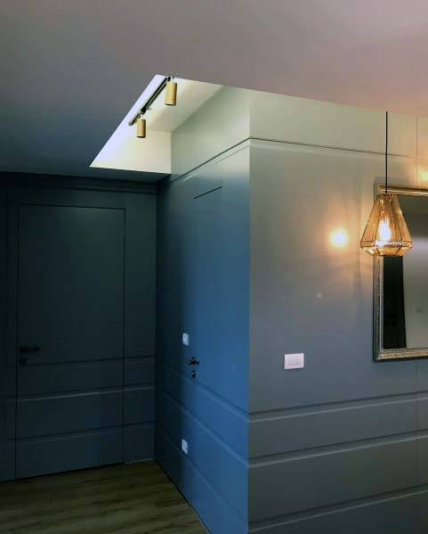 Unique Hidden Door Designs Grey Painted Walls