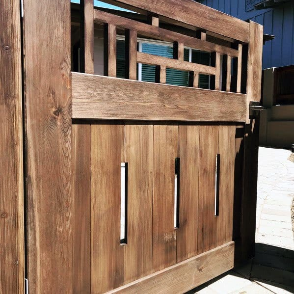 Unique Hinged Large Wooden Gate Designs