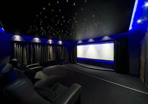 Unique Home Theater Lighting Fiberoptic Star Ceiling Designs