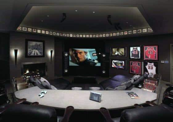 Unique Home Theatre Basement Man Cave Ideas