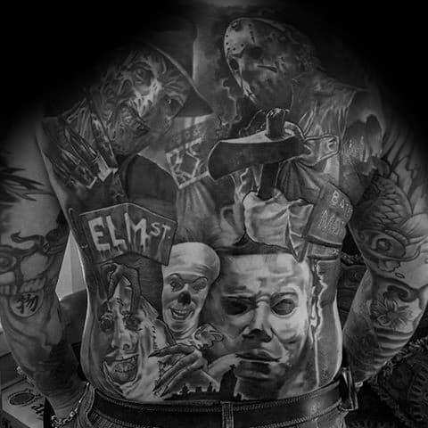 Unique Horror Movie Tattoos For Men